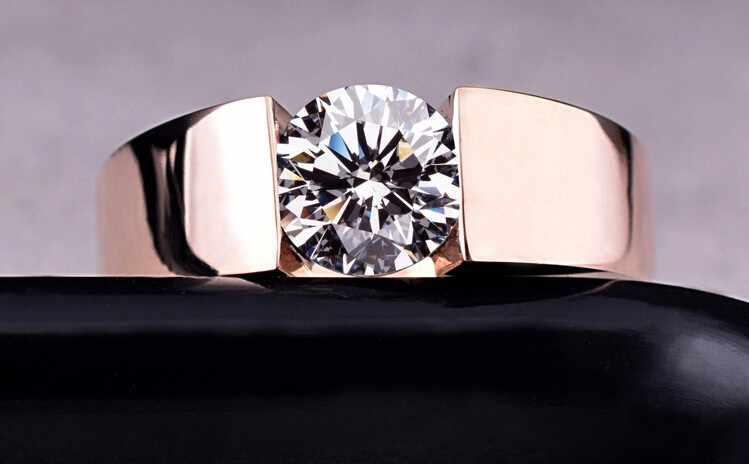 4.5มิลลิเมตรหัวใจและลูกศรAAA + CZแหวนแต่งงานRose G Oldและสีขาวชุบคลาสสิกแหวนนิ้ว