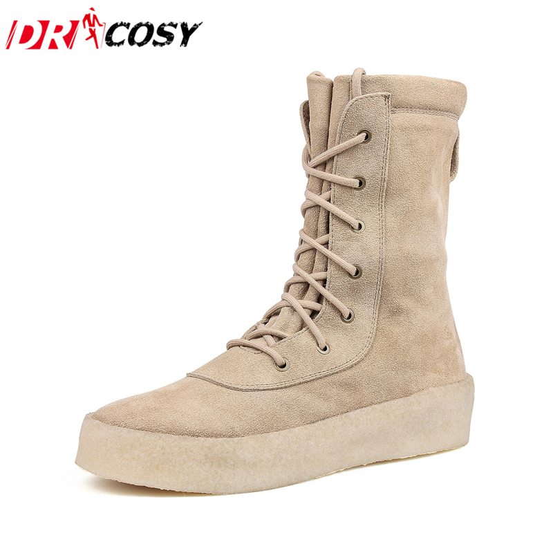 Crepe Shoes Couples Chelsea Boots Women Platform Genuine Leather Martin Boots Ankle Botas Fashion Women Boots Kanye West Boots justin bieber fear of god ankle boots 100% genuine leather kanye west boots men casual shoes fog platform botas knight boots