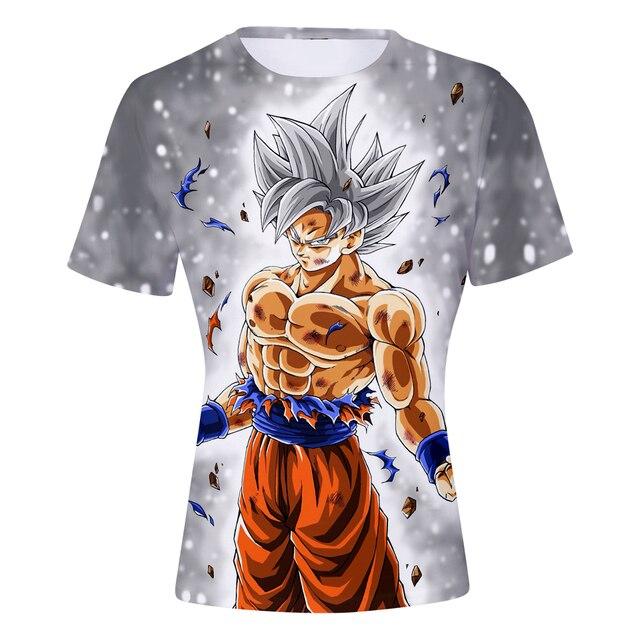 6d45ca4a772 Dragon Ball DBZ Super Saiyan 3D t-shirt anime Kid Goku Goten Gohan tshirt t  shirt summer o neck men women harajuku t shirts tops