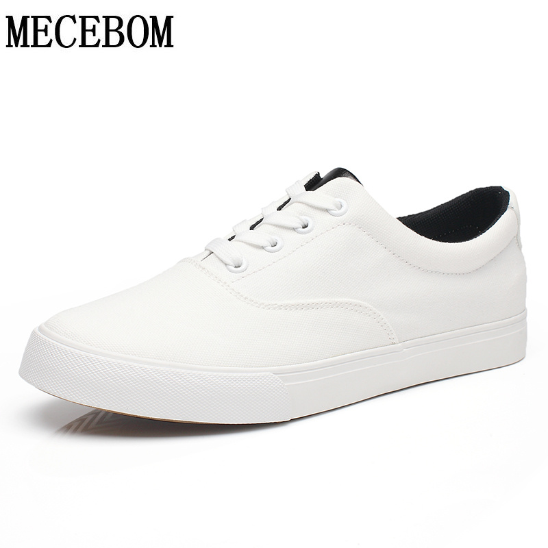 Men shoes fashion solid white canvas shoes breathable lace-up casual shoes flats chaussure homme size 39-44 1877m women s casual breathable lace up floral pattern canvas shoes green yellow white eur size 39