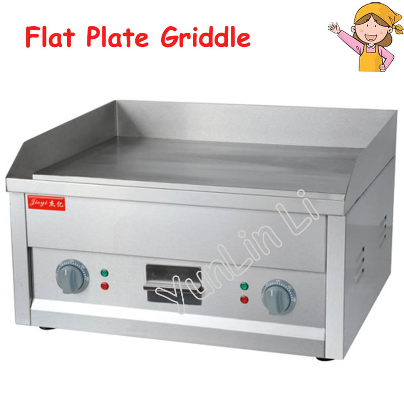 Flat Plate Electric Griddle Stainless Steel Grill Electric Cooking Plate for Commercial or Camping FY 610