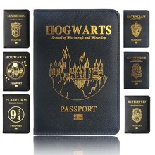 TRASSORY Multifunctional Rfid Blocking Leather Passport Cover Holder Hogwarts Gryffindor Ravenclaw with Card Case