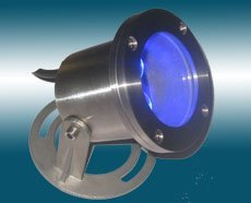 LED underwater light;3*1W;IP65; various color available;please advise the color