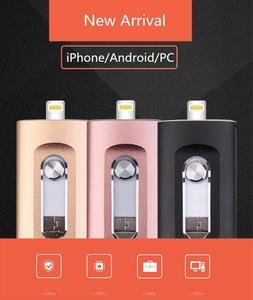 Image 5 - Nieuwe iOS USB Flash Drive 3 in 1 OTG USB Flash Drive 32 GB/64 GB/128 GB /256 GB Pendrive Metalen Pen Drive 64 GB voor iPhone X/8/7/6 Plus
