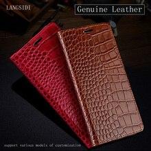 Genuine Leather Flip case For xiaomi redmi note 7 K20 Pro Luxury Crocodile texture silicone soft Cover mi 9T a2 Mi 8