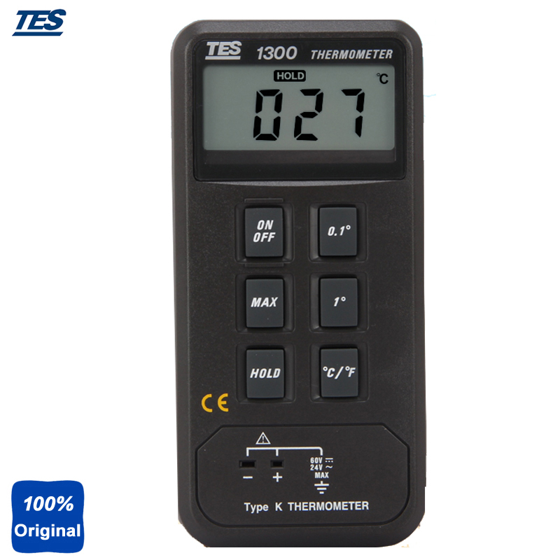 Single Input Digital Thermocouple Thermometer -50 to 1300C -50 to 1999F TES1300