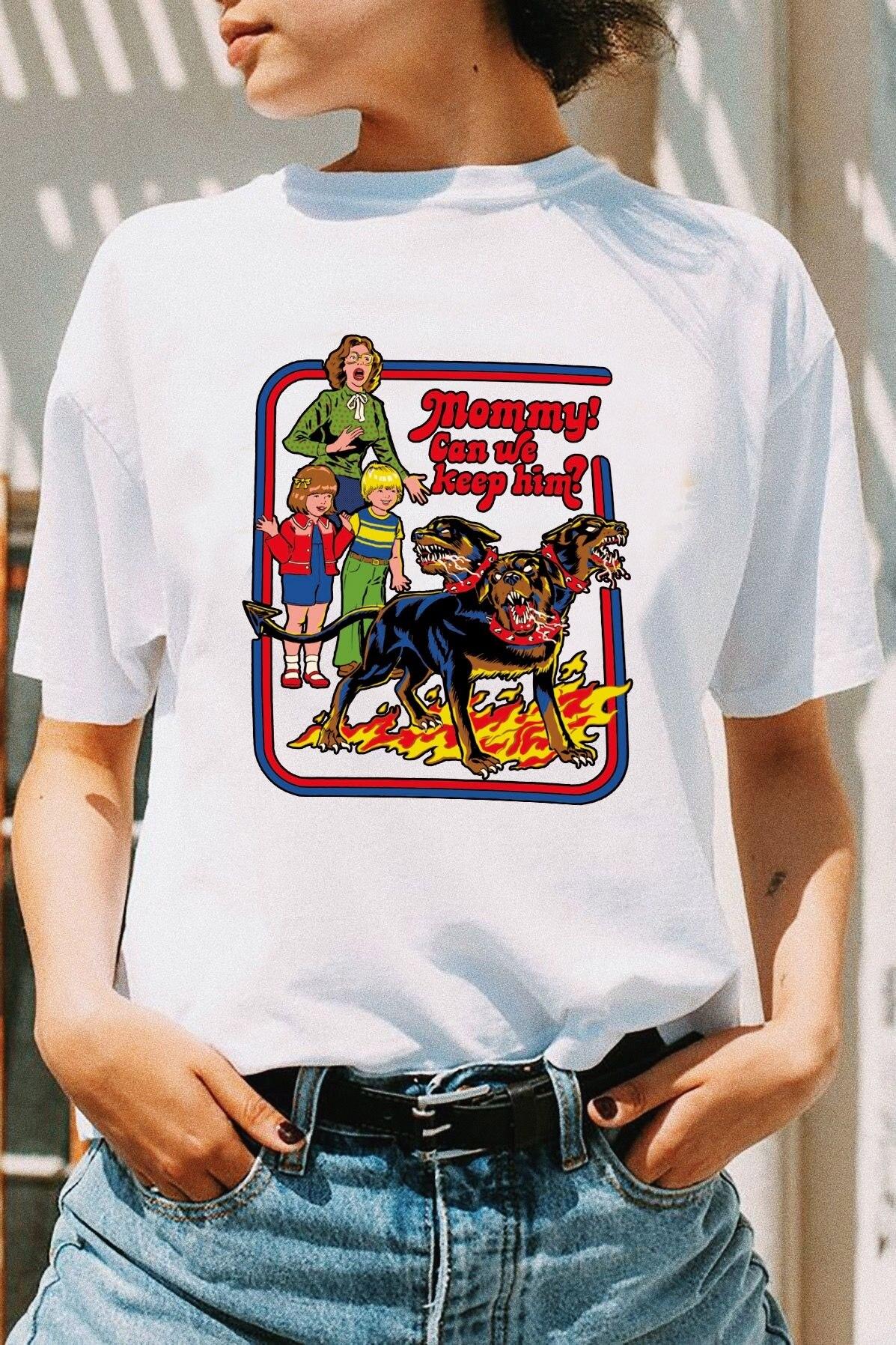 Hahayule Yf Neue Ankunft Frauen Lustige Stil T-shirt Mama Wir Können Halten Ihn Hunde Gedruckt Vintege Tops Harajuku T-shirts Professionelles Design Oberteile Und T-shirts Frauen Kleidung & Zubehör
