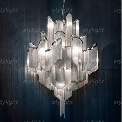 stream suspension light aluminum chain chandeliers modern novelty lighting fixture aluminum pendant lamp chain chandelier материнская плата пк asrock h270m itx ac h270m itx ac