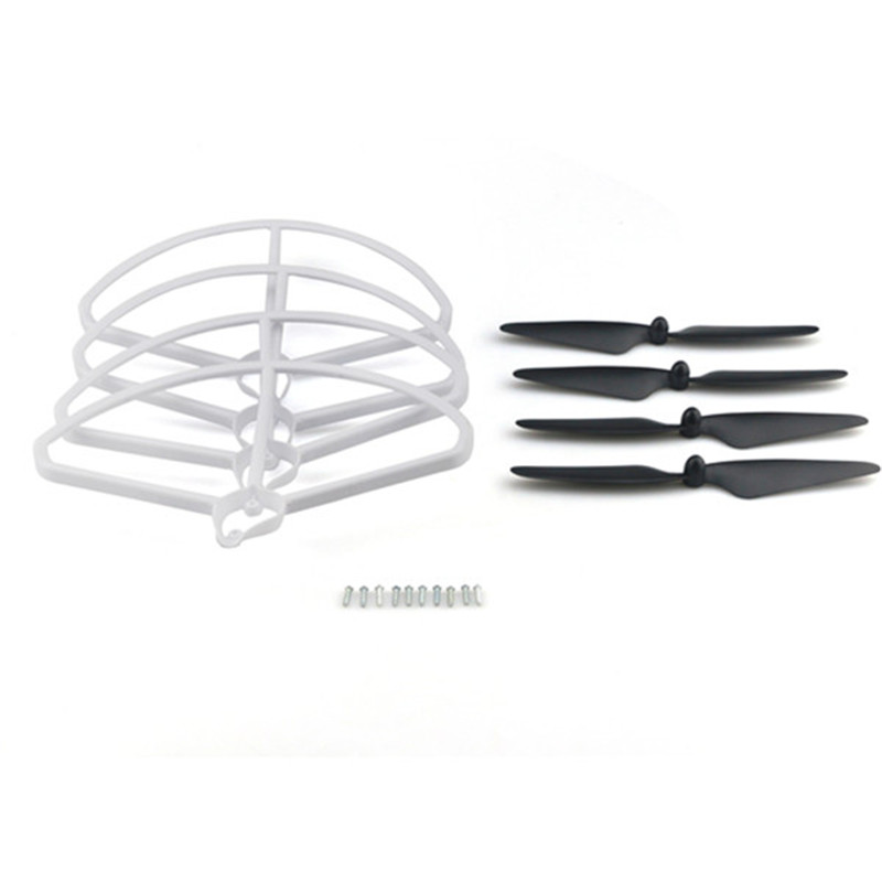 Hubsan H501S H501C RC Quadcopter Sapre Parts CW CCW Propellers Props & Protection Cover Guard Set free shipping 4pairs black propeller props for hubsan h501s fpv rc drone quadcopter kvadrokopter cw ccw propellers spare parts