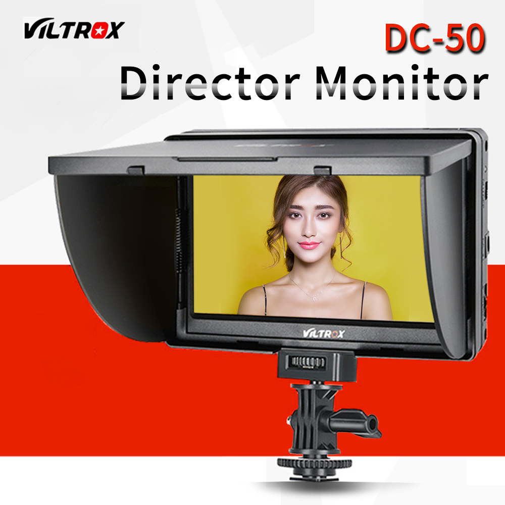 Viltrox 5 DC 50 Clip on Color TFT LCD Monitor HDMI AV for Canon Sony with