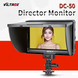 Viltrox 5 DC-50 Clip-on Color TFT LCD Monitor HDMI AV  for Canon Sony with NP-FM500H and Battery Charger