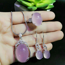 hot deal buy yu xin yuan fine jewelry natural jade medullary 925 silver necklace earrings ring fashion charm jewelry sets women jewelry