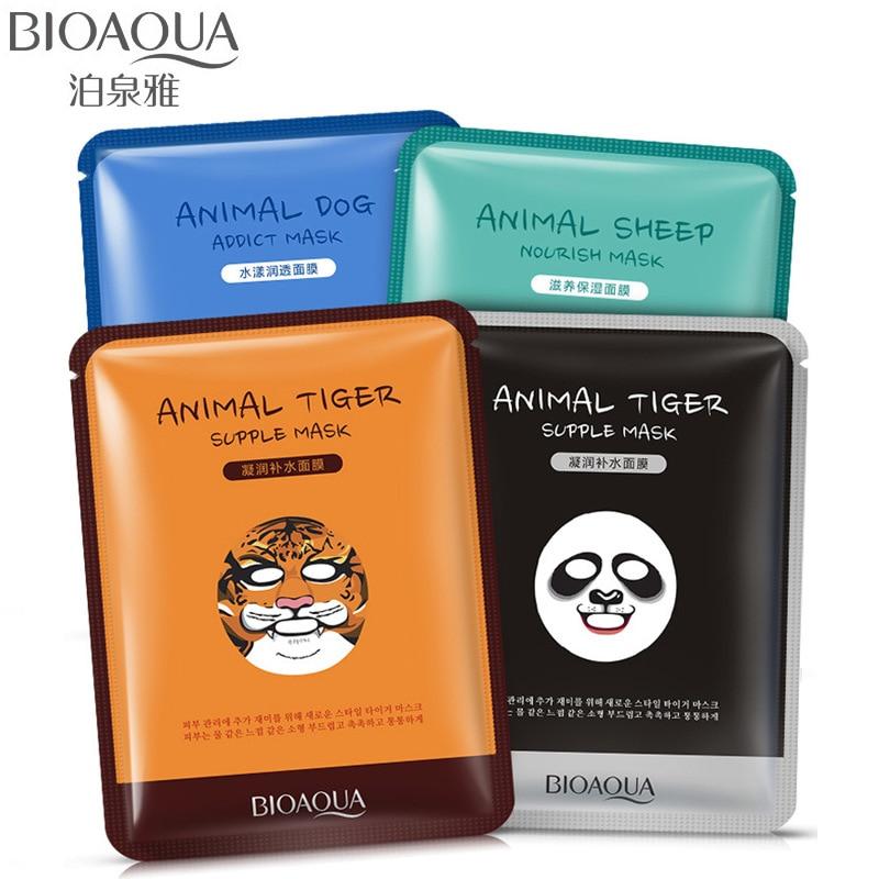 BIOAQUA Creative Animal Face Masks Skin Care Sheep/Panda/Dog/Tiger Shape Facial Mask Moisturizing  цена 2017