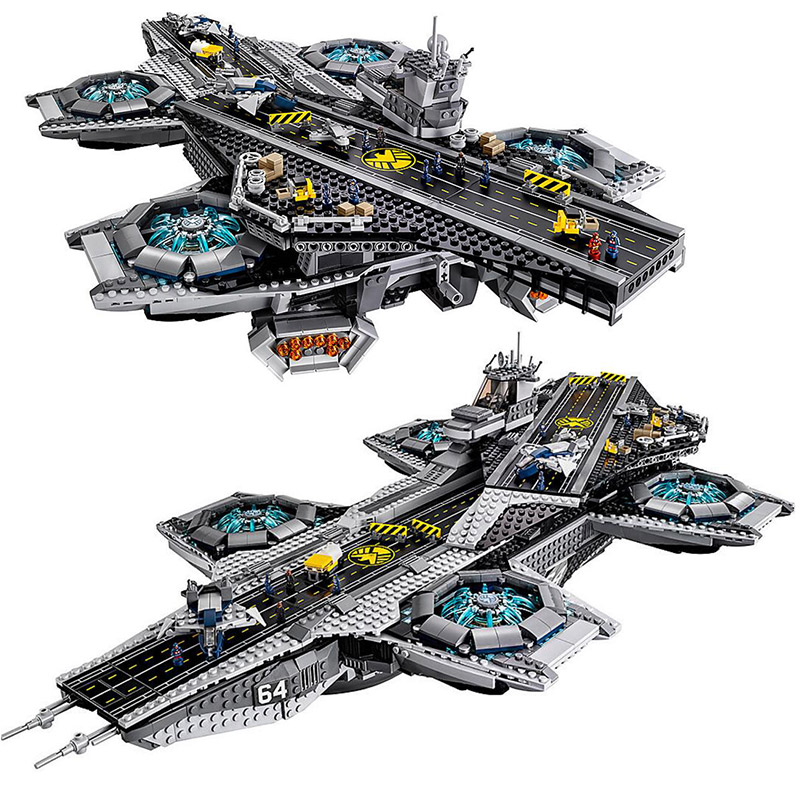 3057Pcs LEPIN 07043 Super Heroes The SHIELD Helicarrier Model Building Kits Blocks Bricks Boy Toys Compatible 76042 new lepin 22001 pirate ship imperial warships model building kits block briks toys gift 1717pcs