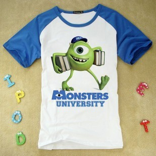 14fa4883 Boys and girl Monster university sulley mike new short sleeve t-shirt  monster Inc t shirts many styles for choose,children gift