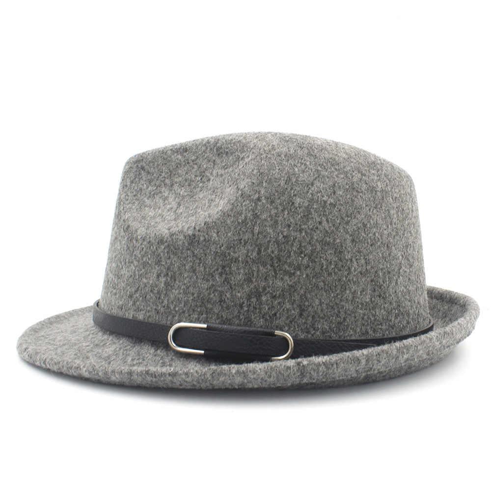 Classico100 ٪ الصوف النساء الرجال فيدورا قبعة للشتاء الخريف أنيقة سيدة العصابات تريلبي فيلت هومبورغ الكنيسة الجاز حجم 56-58 سنتيمتر