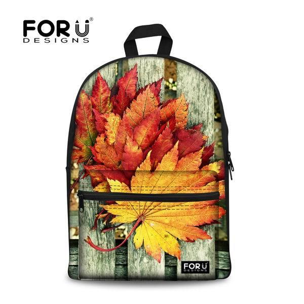 Forudesigns/холст Торонто Кленовый лист печать Для женщин рюкзак Колледж Grils подсолнечника Школа Книга Сумки досуг детей рюкзак