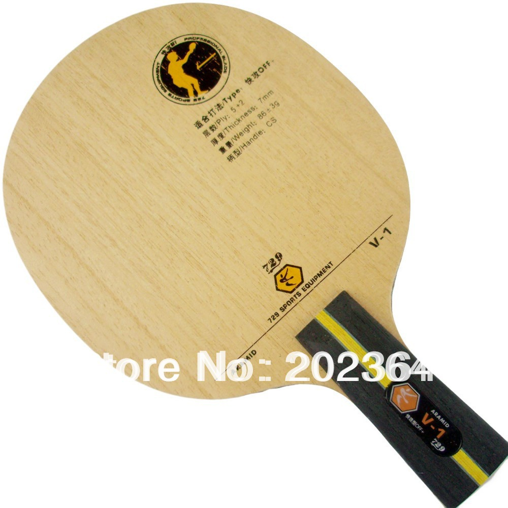 RITC 729 Friendship V-1 (V1, V 1) ARAMID Quick-Attack Table Tennis Blade (Penhold) for Ping Pong Racket Penhold short handle CS