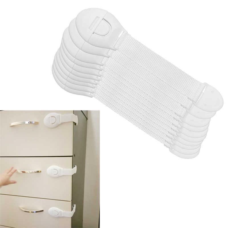10 шт./лот ящика Дверь Кабинета шкаф туалет замки безопасности Безопасность детей малышей Уход Пластик блокировочные ремни для защиты ребенка
