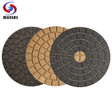 RIJILEI 10PCS/Set  4inch Super quality Wet polishing pads 100mm diamond pad Marble Granite polish tools HF05