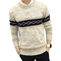 Newest Winter Men Fashion Sweater All-Match Slim Warm Knit Swearters Full Sleeve O-neck Handsome Pullovers Hot Selling Clothes