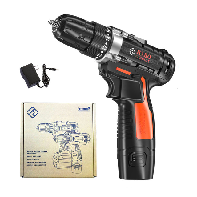 12-Volt Max Lithium-Ion Battery 28N.m 2-Speed Electric Cordless Drill Mini Drill Screwdriver Wireless Power Driver