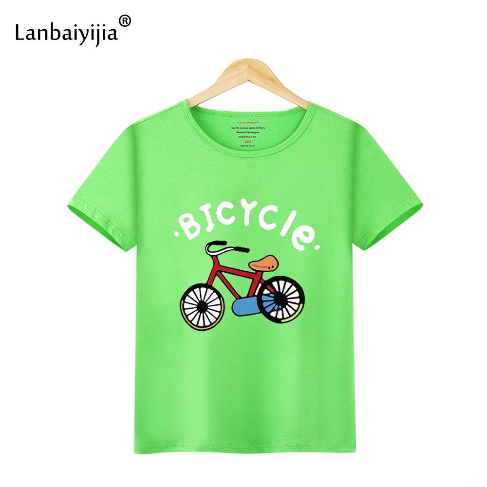 Lanbaiyijia 2018 New girls t shirt cute short sleeve summer tshirt kids new designed casual cartoon t shirt Cotton girl top
