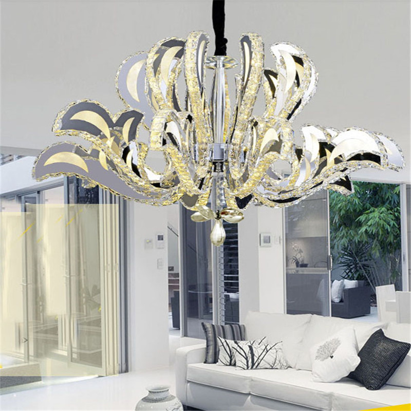 Art Deco Foyer Lighting : Art deco luxury large led crystal chandelier for living
