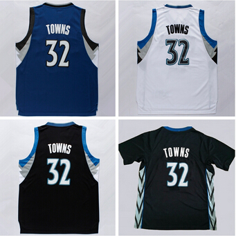 new 2015 Draft Pick Karl Anthony Towns Jersey 32 Minnesota Basketball  Jerseys Karl-Anthony Towns Shirt Black Blue White 602412765