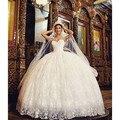 New See Through Top Ball Gown Wedding Dresses Sweetheart Pearls Flowers Tulle Princess Bride Dresses  vestidos de novia