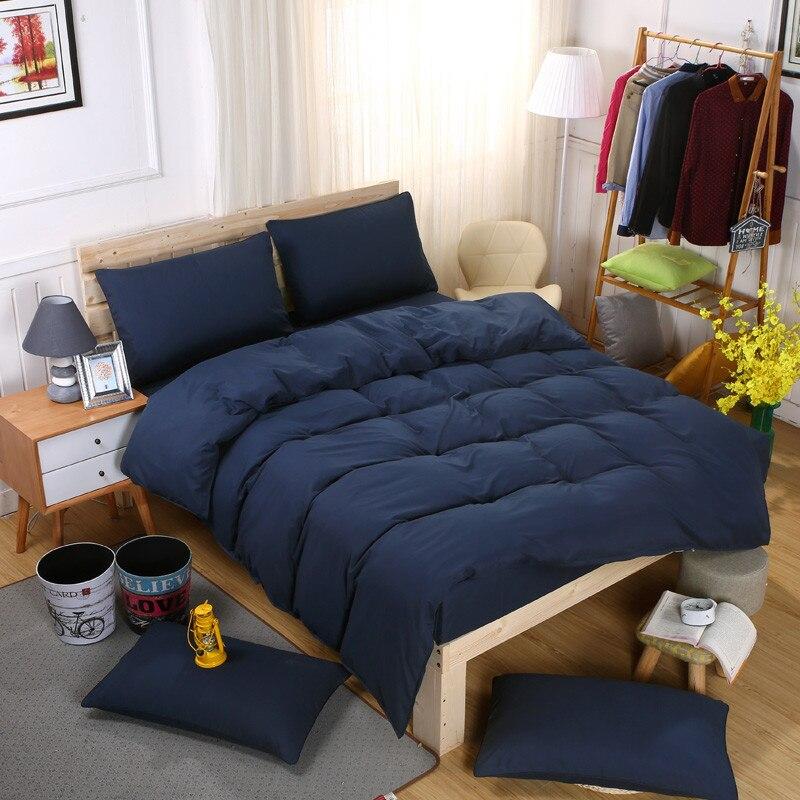 dark blue duvet cover men s comforter cover reactive printing 4pcs bedding set queen size bedclothes pillow covers male bed sets