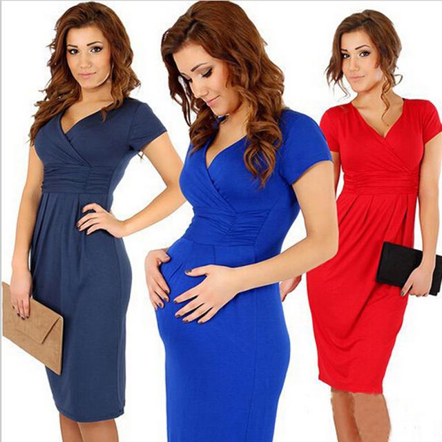 Vestidos de maternidade quentes a gravidez roupas de grávida vestido plus size vestidos para mulheres grávidas algodão macio elegante cintura elástica