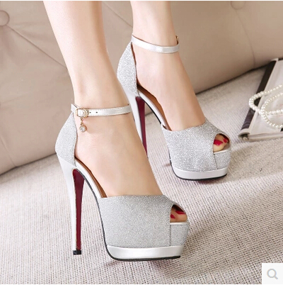 prom heels wedding shoes women high heels 15cm crystal high heel ...