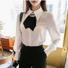 Женские Простые однотонные однобортные рубашки подходящие ко