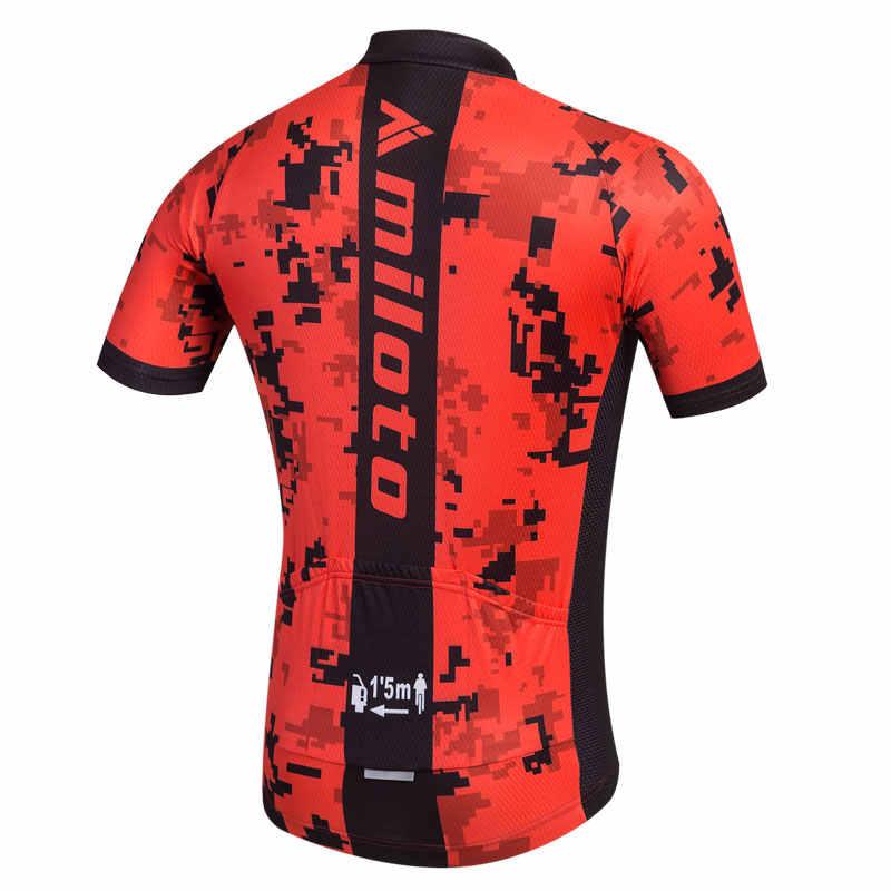 Maillot de Ciclismo MILOTO, Ropa de Ciclismo de carreras de verano, Ropa de Ciclismo de manga corta mtb, Maillot de Ciclismo
