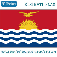 Free shipping The Republic of Kiribati National Flag 90*150cm/60*90cm/30*45cm/15*21cm 3x5ft Hanging For Event / Office