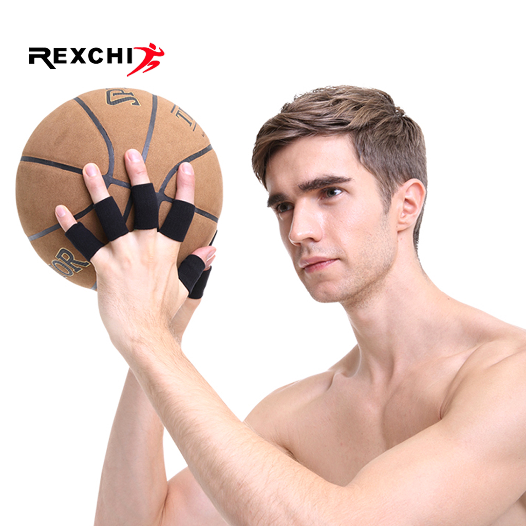 REXCHI 10 Pcs Professional Gym Fitness Fingerstall Sleeve Power Weight Lifting Equipment Crossfit Workout Basketball Volleyball