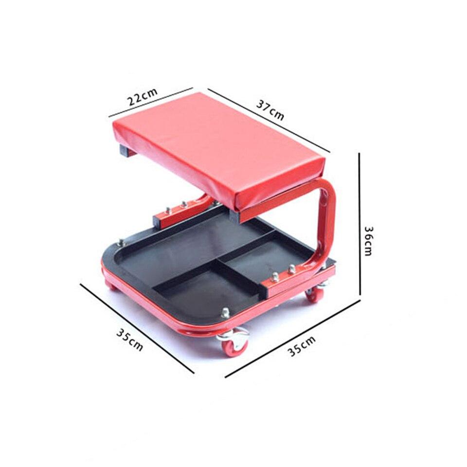 Image 2 - Автомобильное кресло для гаража, красное кресло для ремонта автомобиля с колесами, магазин стульев, MO 601-in Наклейки на автомобиль from Автомобили и мотоциклы