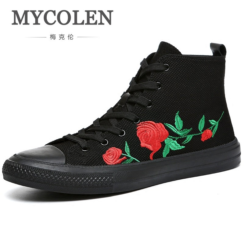MYCOLEN High Top Casual Shoes Men Sneakers Men 2019 Fashion Ankle Boots Men Luxury Brand High Top Shoes Scarpe Uomo Invernali