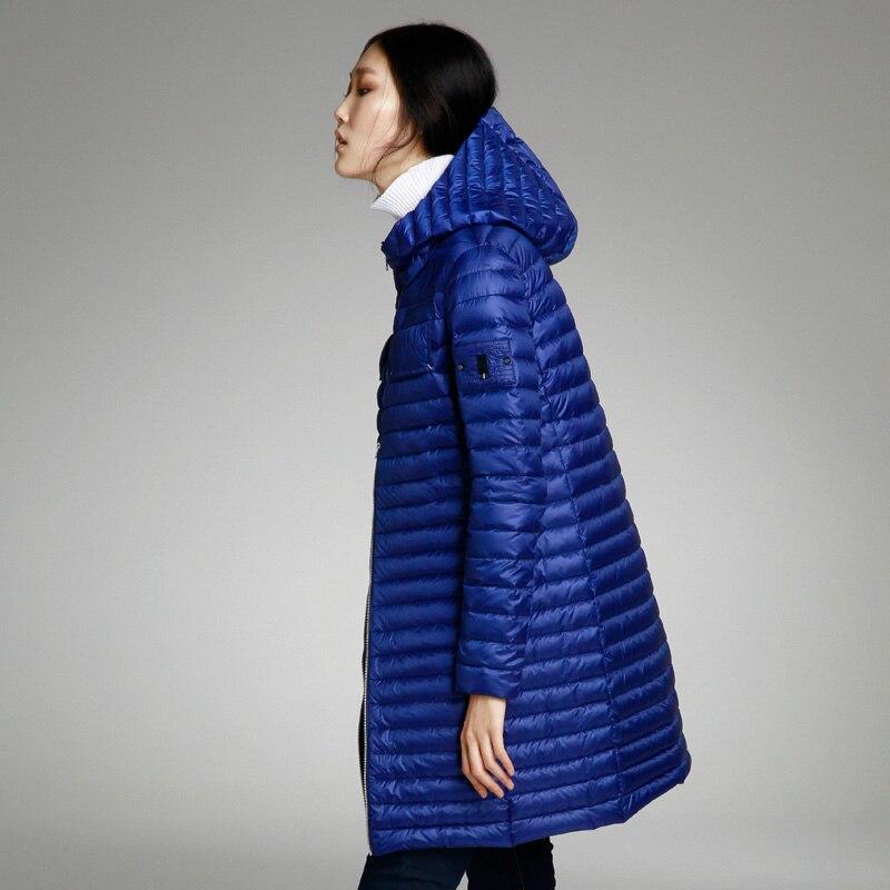 blue gray Printemps Hiver Femmes Vestes Le Moyen Avec Mince Mode Pour Misun2018 Bas Femme Lumière Black Fille long Automne De Capot Manteau Vers Et Un wgdyqSt