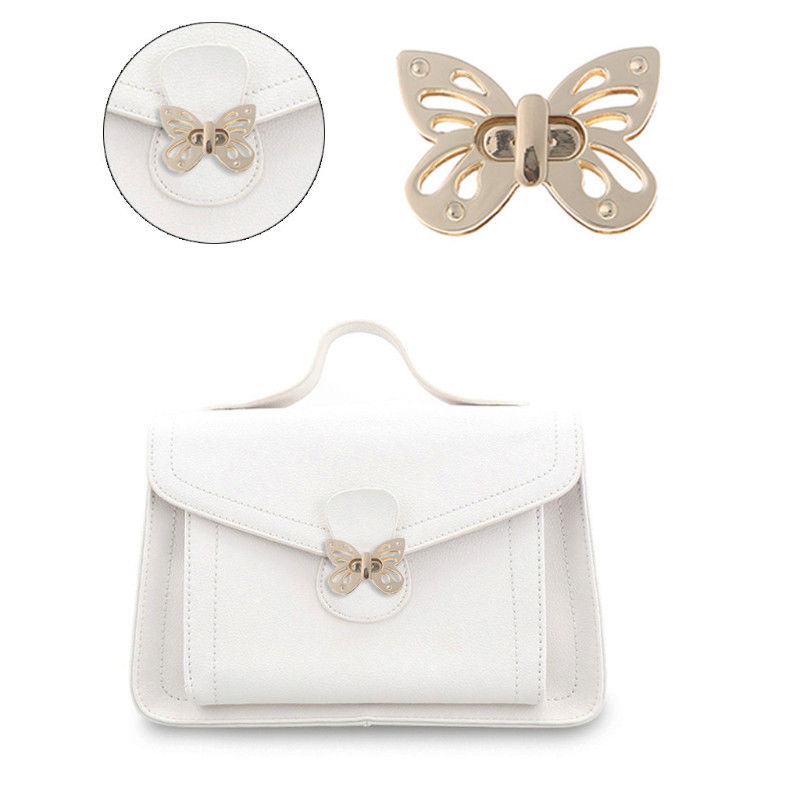 Butterfly Bag Turn Lock Snap Clasps Closure Buckles Leather Craft Accessories