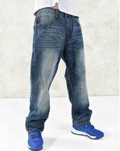 Новый стиль мужчина широкий джинсы хип-хоп скейтборд мешковатые штаны джинсовые брюки хип-хоп мужчин джинсы большой размер 30 — 46