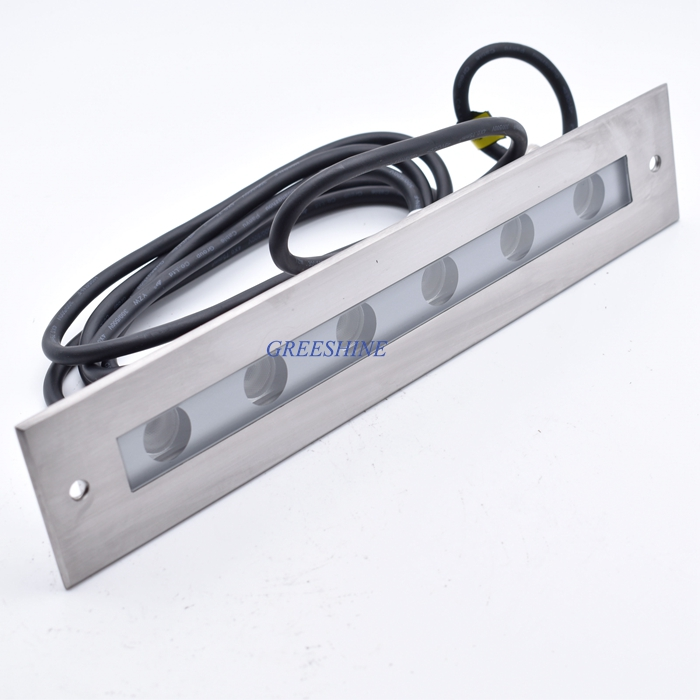 цена 316/304 stainless steel 24V 18W Pool LED lamp Underwater LED Light Square Recessed Inground Swimming Pool LED light RGB