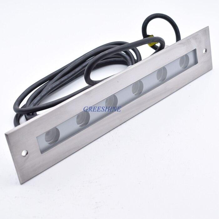 US $482.5 |316 edelstahl 24 v 18 watt Pool LED lampe Warmweiß Unterwasser  LED Licht Einbau Inground Schwimmbad LED licht RGB 4 teile/los-in ...