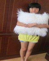 Genuine Mongolian Pilow Tibet Lamb Pillow Fur Pillow Floor Cushion 12 X36