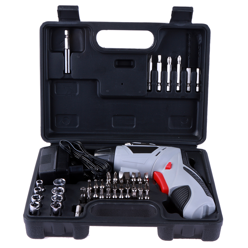 4.8V Electric Drill Cordless Screwdriver Rechargeable Battery Electric Screwdriver Electric Drill Set Tools With EU Plug 2016 45 pcs rechargeable cordless reversible electric screwdriver 4 8v kit set hot handheld electric screwdriver