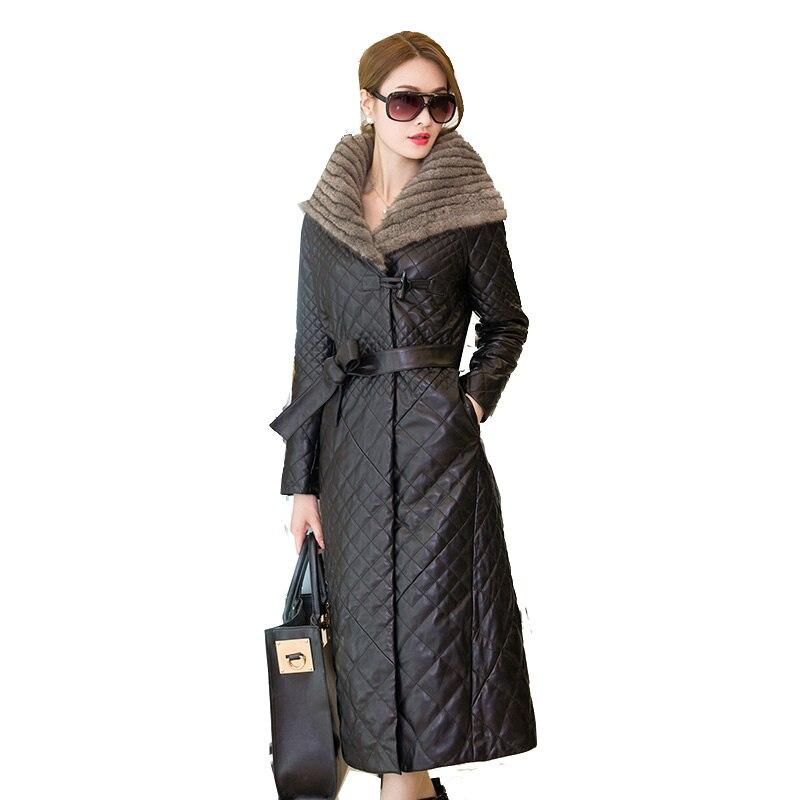 Plus size 5XL 2019 New Fashion Winter Warm Faux Sheepskin   Coat   Women's   Down   Leather Jacket Black Outerwear Winter   Down   Jackets