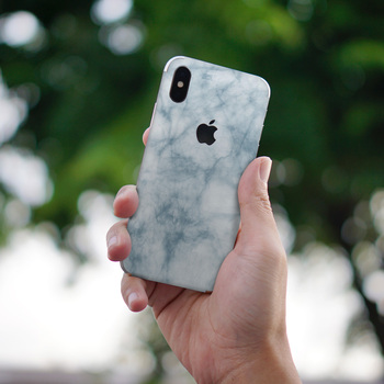 Blue cloud mobile phone sticker for iphone x sticker 6 7 plus XR xsmax back cover sticker No edging Waterproof personality DIY