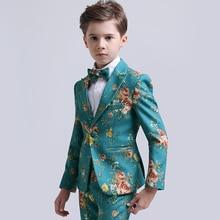 цена на Boys suits for weddings dress formal costume enfant garcon mariage children school uniform boys blazer suits set pageant dress