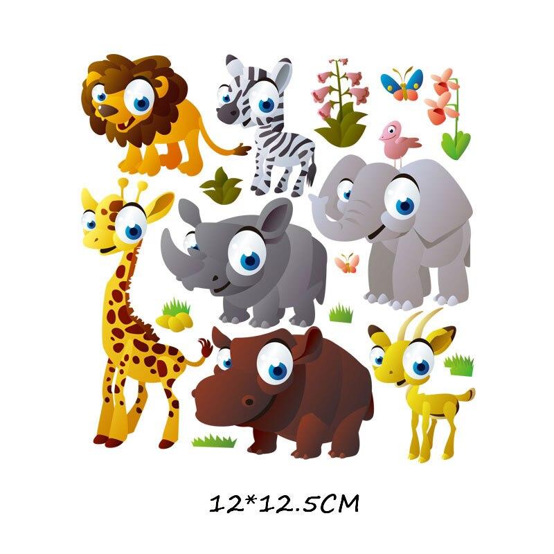 Набор патчей с изображением животных из мультфильмов, милые патчи с изображением единорога, кошки, совы, собаки, цветов для детей, одежда для девочек, футболка, сделай сам, термопресс - Цвет: 775